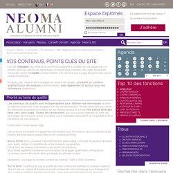 Vos contenus, points clés du site - SEO : Règles de bases du référencement naturel - TIC, ebusiness - Les Experts - Réseau neoma-alumni.com