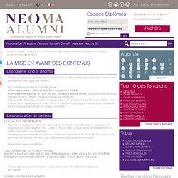 La mise en avant des contenus - SEO : Règles de bases du référencement naturel - TIC, ebusiness - Les Experts - Réseau neoma-alumni.com