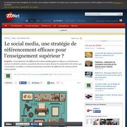 Le social media, une stratégie de référencement efficace pour l'enseignement supérieur ?