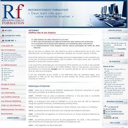 Internet: les chiffres clés et son histoire pour la création d'un site internet son référencement - Referencement-formation.com
