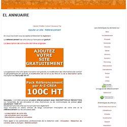 Référencement gratuit sur El-annuaire - Ajouter un site gratuitement - Promotion gratuite