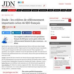 Etude : les critères de référencement importants selon 46 SEO français - JDN