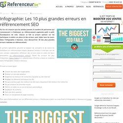 Découvrez les 10 plus grandes erreurs en référencement SEO en infographie
