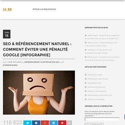 SEO & référencement naturel : Comment éviter une pénalité Google [Infographie]