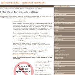 Hotlink - Htaccess de protection contre le vol d'image