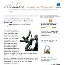20 conseils pour réussir son référencement : Introduction - Référencement par Abondance
