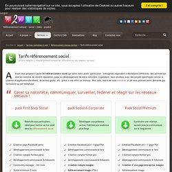 Tarifs création et référencement réseau social (community management)