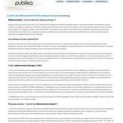 L'avenir du référencement et des réseaux sociaux - E-marketing