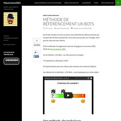 Méthode de référencement UX-Bots
