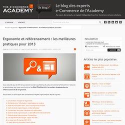 Ergonomie et référencement : les meilleures pratiques pour 2013
