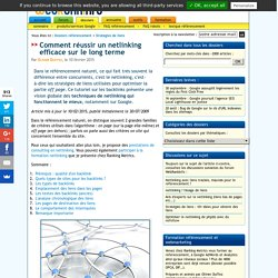 Le référencement par le netlinking : meilleures techniques, stratégies de liens