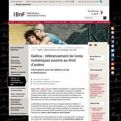 Gallica : référencement de livres numériques soumis au droit d'auteur