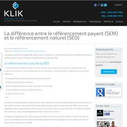 Le référencement payant et le référencement naturel ? - Klik L'agence