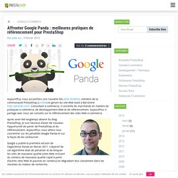 Google Panda : pratiques de référencement pour PrestaShop