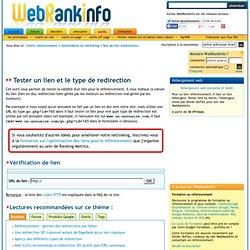 Outil pour tester la validité d'un lien pour le référencement (type de redirection)