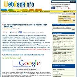 Guide du référencement social (SEO, SMO, SMM) : réseaux sociaux
