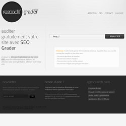 Audit referencement gratuit | SEO Grader - Rezoactif
