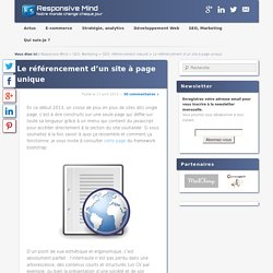 Le référencement d'un site à page unique