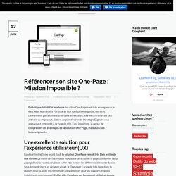 Référencement d'un site One-Page - Stratégie Digitale Quimper
