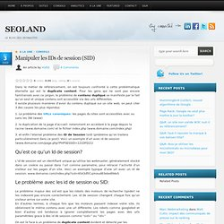 Référencement - Utiliser les ID de session SID