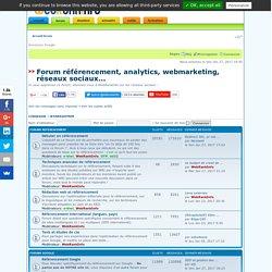Forum référencement et webmarketing de WebRankInfo