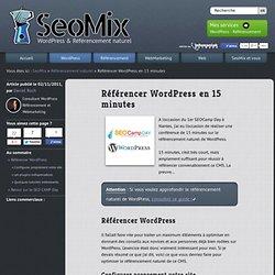 Référencer WordPress en 15 minutes