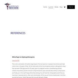 References — America's Frontline Doctors Summit
