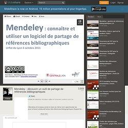 Mendeley : découvrir un outil de partage de références bibliographi...
