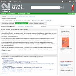 Les références bibliographiques - Utiliser