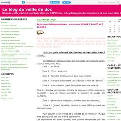 Références bibliographiques : les normes AFNOR Z 44-005 et Z 44-005-2