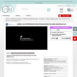 Gerer les références des ressources du web (Module 4.2) - Compétences numériques