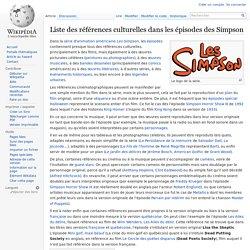 Liste des références culturelles dans les épisodes des Simpson