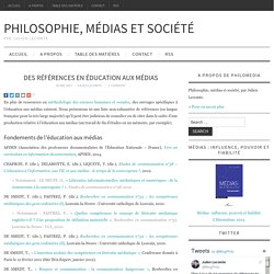 Des références en éducation aux médias