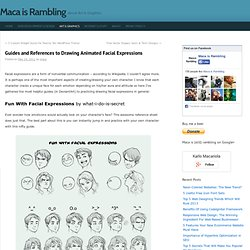 Guides and References to Drawing Animated Facial Expressions