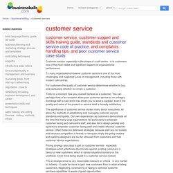 customer service and support skills training guide, references, standards, principles, call-centre management, call-centre training ideas