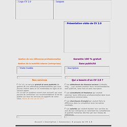 CV 2.0 - Gestion de vos références professionnelles - Gestion de la mobilité interne (RH)