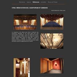 Références - CTBA: rénovation de l'auditorium et annexes