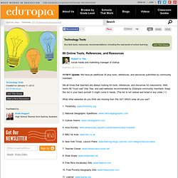 80 Online Tools, References, and Resources | Edutopia Group Discussions by and for Educators