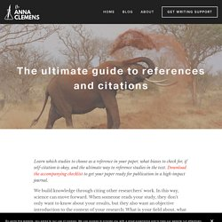 The ultimate guide to references and citations - Scientific Writing Strategy & Editing