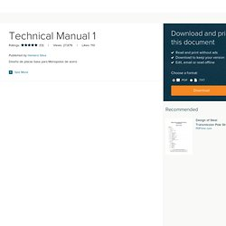 References for Technical Manual 1