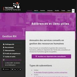 Annuaire des services conseils en gestion des ressources humaines - Références et liens utiles