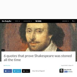 6 stoner references in the plays of William Shakespeare