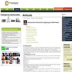 PHP en castellano. Manual de referencia rápida para PHP-Nuke