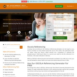 OSCOLA Referencing Generator - UK OSCOLA Reference Guide