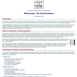 Referencing - The Harvard System