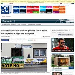 Irlande: Ouverture du vote pour le r f rendum sur le pacte budg taire europ en