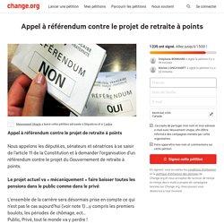 Député.es: Appel à référendum contre le projet de retraite à points