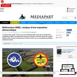 Référendum NDDL: analyse d'une imposture démocratique