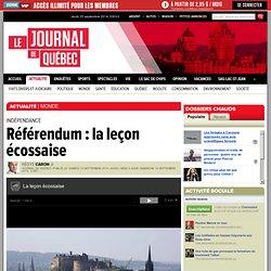 Référendum : la leçon écossaise