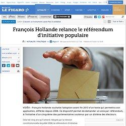 François Hollande relance le référendum d'initiative populaire